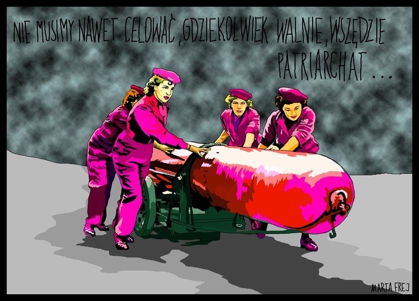0065 dziewczyny spokojnie, gdzie nie walnie, wszedzie trafi na patriarchat